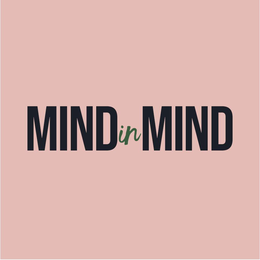 MINDinMIND cirdle logo with salmon pink background